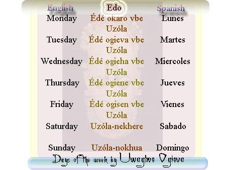 week days